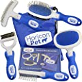 Horicon Pet Premium Dog Brush Set Interchangeable Dog Grooming Brushes - Dematting Undercoat Comb, Slicker Brush, Deshedding Edge Comb, Spring Comb, Ball Pin Brush, Bristle Brush from Horicon Pet