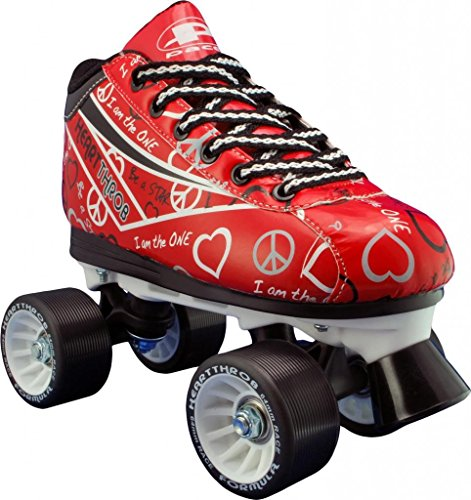 - Pacer Heart Throb Womens Roller Derby Skates - Red - Size 7
