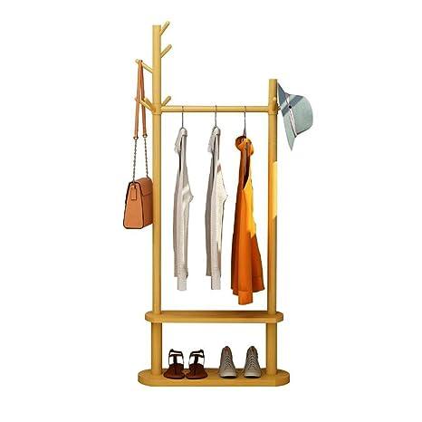 K-Y Perchero de pie Ropas Colgantes para Ropa de bambú Ropa ...