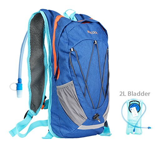 WACOOL Waterproof 10 Liter Hydration Bladder Pack, Cycling Running Walking Backpack, Hiking Lightweight Daypack.