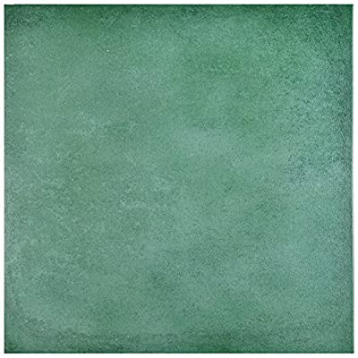 "SomerTile FNU14SRU Simbole Porcelain Floor and Wall Tile, 14.125"" x 14.125"", Green"