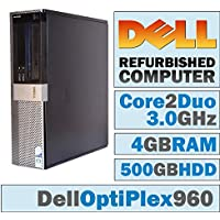 Dell OptiPlex/Core 2 Duo E8500 3.1GHz/NEW 4GB RAM/500GB HDD/DVD-RW/WINDOWS 10 64 BIT - (Certified Reconditioned)