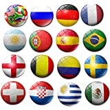 CHOP MALL Magnets Happy 2018 World Cup National Flag Funny Magnet Refrigerator Magnets for Home Kitchen Fridge Decor Office White board Desk Car Decor