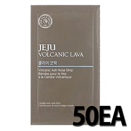 50EA THE FACE SHOP Jeju Volcanic Lava Volcanic Ash Nose Strip by THEFACESHOP