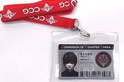Amazon.com: Tokyo Ghoul: re CCG ID Pass Haise Sasaki Card w ...