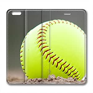 New Design and Good Quality Case,PU Leather Magnet Shell Stand Case Cover for iphone6 plus with Softball