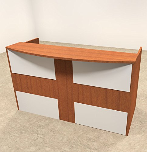 2pc Rectangular Modern Acrylic Panel Office Reception Desk, #OT-SUL-R13 by UTM