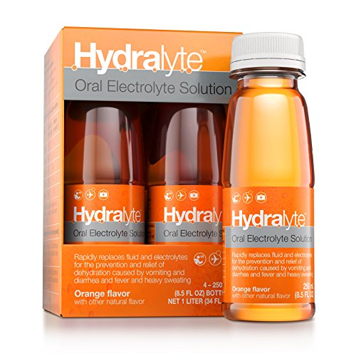 Hydralyte - Oral Electrolyte Solution, Ready to Drink Clinical Hydration Formula (Orange, 4-Pack)