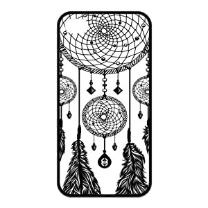 Black and White DreamCatcher Protective Rubber Back Fits Cover Case for iPhone 4 4s