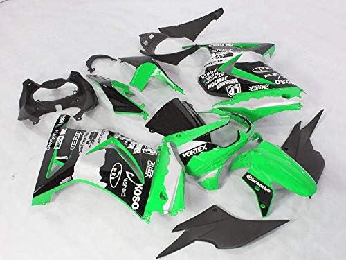 Moto Onfire Fairings Kits Fit for 2008-2012 Kawasaki Ninja 250R EX250 08 09 10 11 12(Green Black)