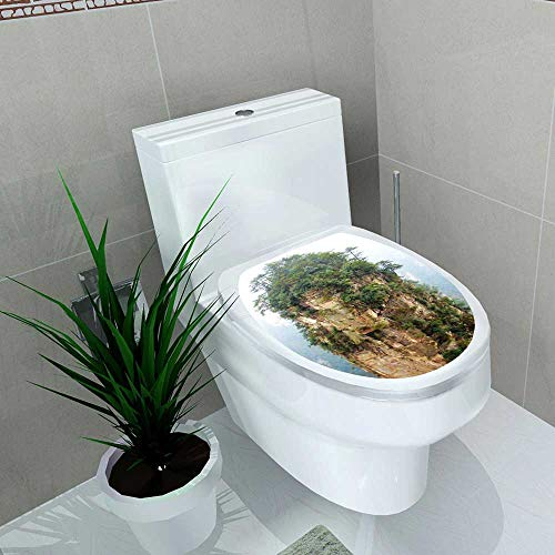 Auraise-home Decal Wall Art Decor Rocks and Trees for Toilet Decoration W11 x L13 ()