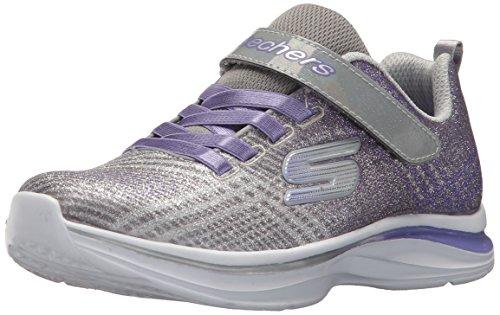 Lavender Girls Shoes - Skechers Kids Girls' Double Dreams Sneaker,Gray/Lavender,11.5 Medium US Little Kid