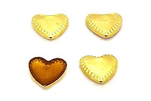 EIMASS® Forma de Corazón Flat Back Cobre Studs con pegamento ...