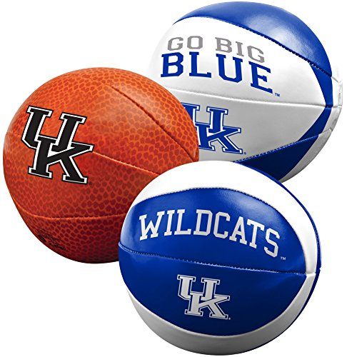 NCAA Kentucky Wildcats Three Ball Softee Basketball Set, (Kentucky Wildcats Pool)