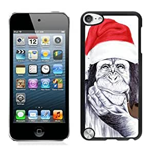 New Christmas Chimp Black For Ipod Touch 4 Case Cover 1