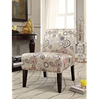 ACME Aberly Fabric and Espresso Accent Chair