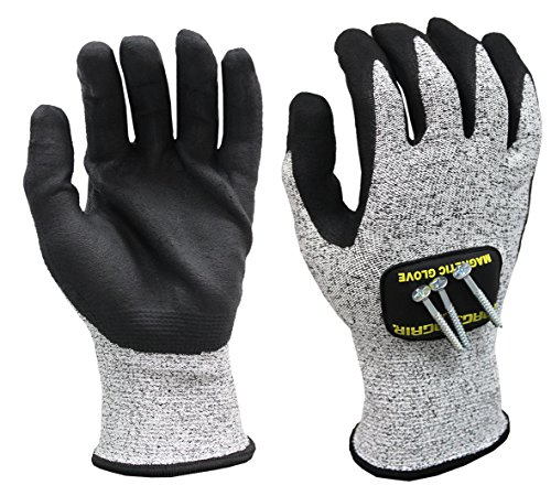 MagnoGrip 006-024 Cut Resistant Magnetic Gloves with Touchscreen Technology -...