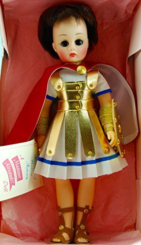Madame Alexander - #1310 - Portrait of History Series - Marc Antony Doll - 11 Inches - Brown Hair / Brown Eyes - Roman General Attire - Gold Armor / Gold Shield / Gold Arm Cuffs - Sandals - Red Lined Robe - Out of Production - New - Mint - Collectible ()