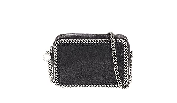6c3e961028a2 Amazon.com  Stella McCartney Women s  Petrol  Falabella Shaggy Deer  Crossbody Clutch with Chain Strap Black  Clothing