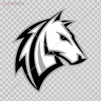 Amazon.com: Decal Stickers Aggressive Horse Color Print (8 X 7.2 ...