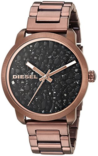 Diesel Women's Quartz Stainless Steel Casual Watch, Color:Brown (Model: DZ5560)