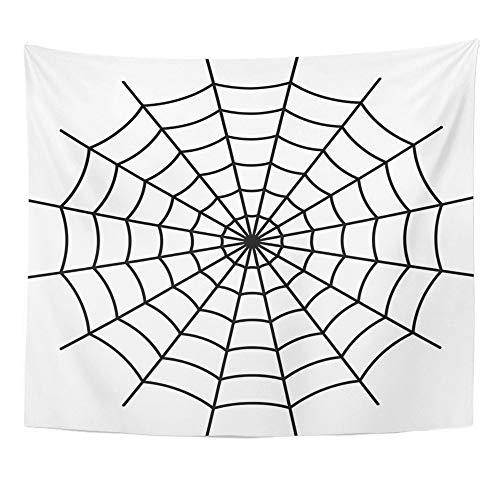 Emvency Tapestry Artwork Wall Hanging Net Spider Black