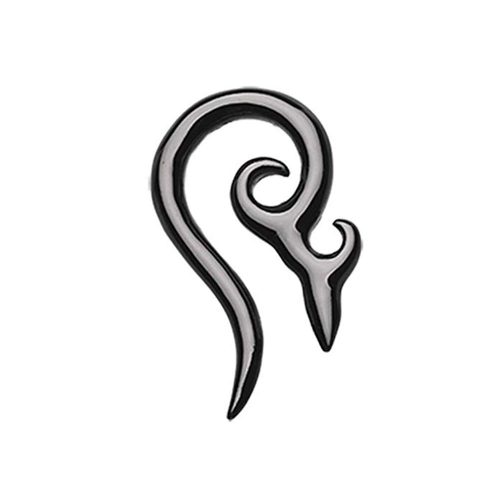 Colorline Devil's Horn Ear Gauge Hanging Taper (10 GA (2.4mm), Black)