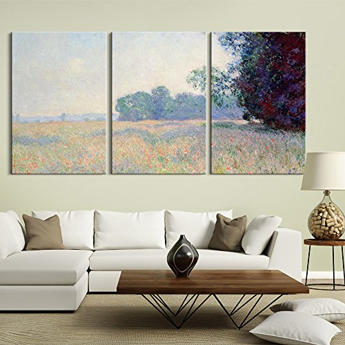 3 Panel Oat Field by Claude Monet x 3 Panels