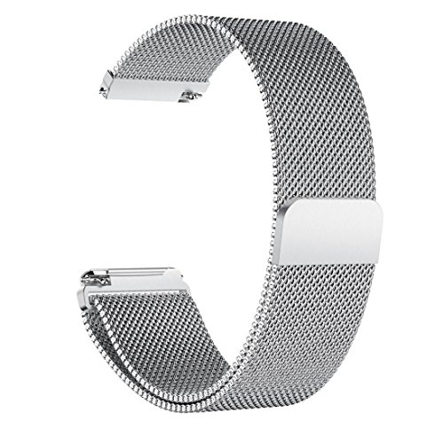 Price comparison product image Watch Band,  Boofab Luxury Stainless Steel Magnetic Closure Lock Milanese Loop Bracelet Watch Band 5.70-8.07Inches (C)