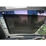 MAZIMARK--Car Shield Visor Side Window Shade Windshield Sunshade Auto Retractable Curtain