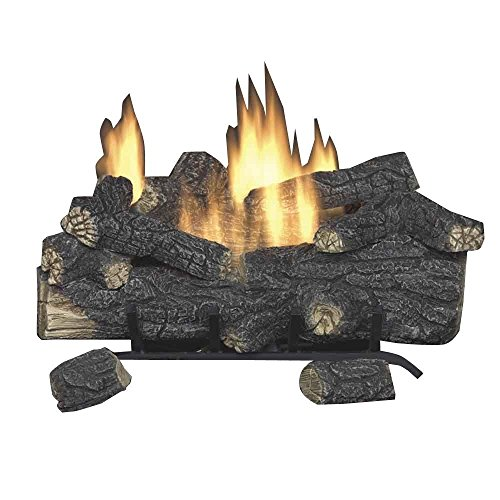 Emberglow Savannah Oak 18 in. Vent-Free Propane Gas Fireplace Logs with Remote (Vent Logs 18 Propane Free Gas)