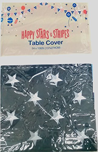 Momentum Brands Happy Stars and Stripes Table Cover [Color/Style May Vary]