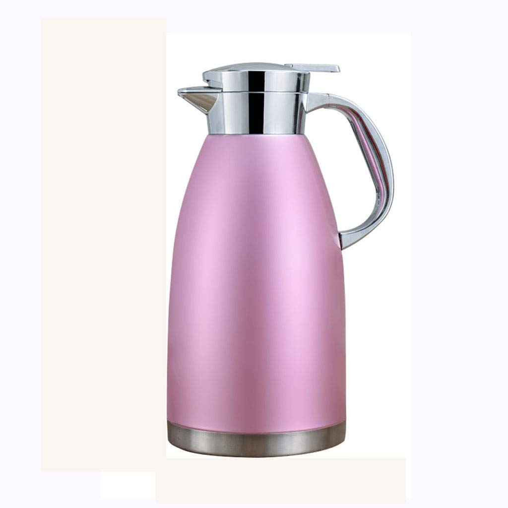 WLHW Trinkflaschen Isolierkanne, 2.3L Doppelwand Isolierte Edelstahl Thermokaffeekaraffen Heiße Kühle Getränke Saftkanne Tee Isolierkanne 78 Oz