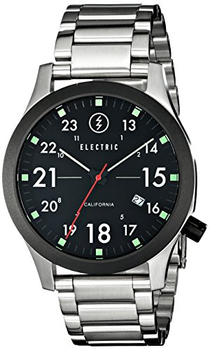 Electric Men's EW0010010001 FW01 Stainless Steel Band Analog Display Japanese Quartz Silver Watch