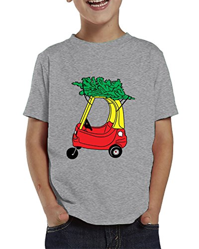 SpiritForged Apparel Childrens Car With Christmas Tree Toddler T-Shirt, Light Gray 3T (Jolly Merry Christmas)