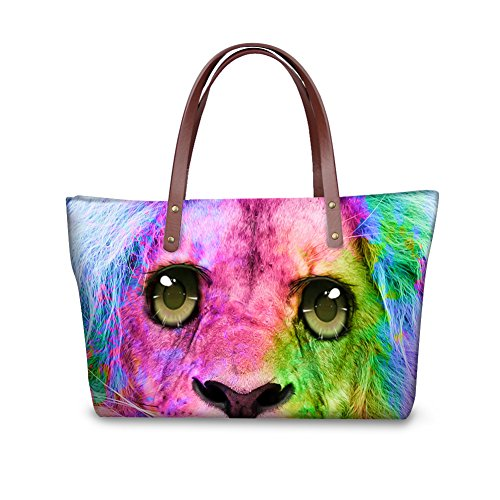 Top Handbags FancyPrint Satchel Bags Women Shoulder Print Animals V6lcc3146al Handle wXXqfp8R