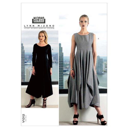 VOGUE PATTERNS V1312B50 Misses' Dress Sewing Pattern, Size B5 (8-10-12-14-16)