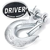 Driver Recovery 5/16'' Clevis Slip Hook with Safety Latch - Heavy Duty Grade 70 Forged Steel Towing Winch Hook