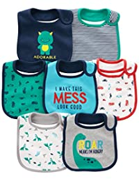 Simple Joys by Carter's Baby Boys' 7-Pack Teething Bib