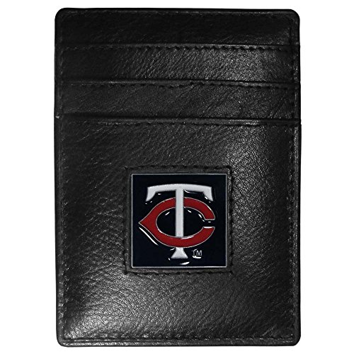 (Siskiyou MLB Minnesota Twins Leather Money Clip/Cardholder)