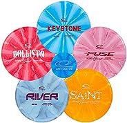 Latitude 64 Retro Burst Disc Golf Starter Set | Frisbee Golf Set | Fury Fairway Driver | Ballista Distance Dri