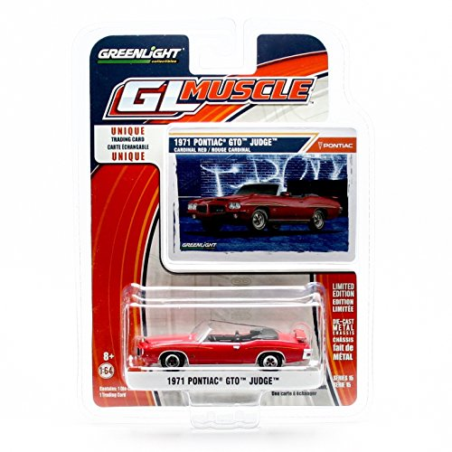 1971 PONTIAC GTO JUDGE CONVERTIBLE (Cardinal Red) * GL Muscle Series 15 * Greenlight Collectibles 2016 Limited Edition 1:64 Scale Die-Cast Vehicle & Collector Trading - Convertible Pontiac Gto 1971