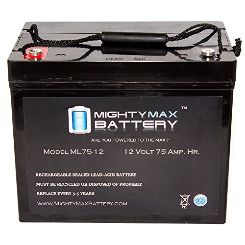 12V 75AH Internal Thread Battery for National C75A Wheelchair - Mighty Max Battery brand product by Mighty Max Battery