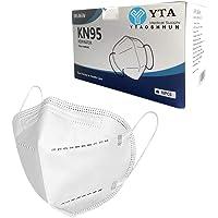 Pacote com 10/30/50, protetor de rosto, com laço elástico antipoeira MID1525, Branco Pacote Com 10 Peças