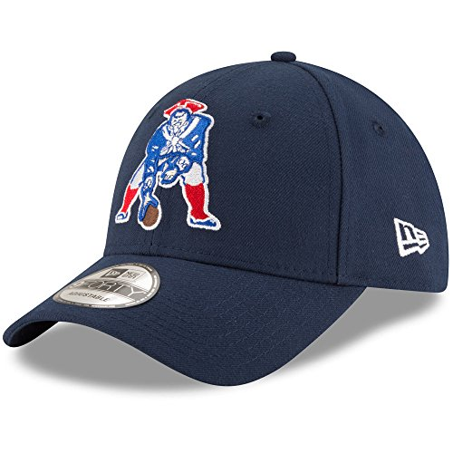 Throwback Adjustable Structured Hat - New England Patriots New Era Classic The League 9FORTY Adjustable Hat Navy