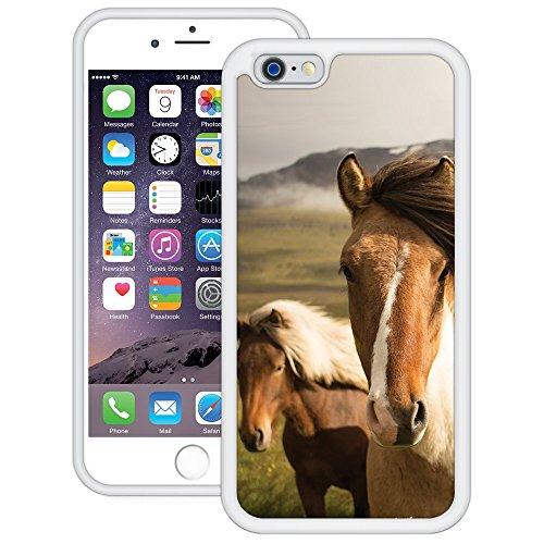 Pferde | Handgefertigt | iPhone 6 6s (4,7') | Weiß Hülle