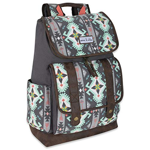 Emma & Chloe Front Loading Backpacks for Women and Girls with Water Bottle Pocket, Padded Shoulder Straps (Aztec) (Best Front Loading Backpack)