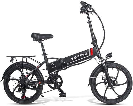 SRXH Bicicleta eléctrica Plegable, Motor de 350 W, 20 Pulgadas 25 km/h, aleación de magnesio superligera 10 Ah 30-60 km kilometraje con Soporte para teléfono móvil, 3 Modos de Trabajo: Amazon.es: Hogar