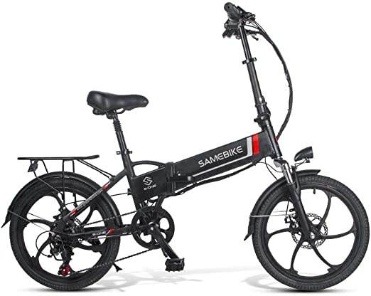 SRXH Bicicleta eléctrica Plegable, Motor de 350 W, 20 Pulgadas 25 ...