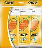 BiC 1 Sensitive - Cuchillas de afeitar desechables para hombre (5 paquetes de 5 unidades)